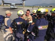 05 12 15 USAID DART USAR team at KTA prior to aerial assessments and rescue operations in Dolakha  Photo USAID DART