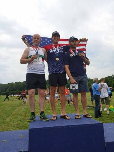 Great day on the Cross Country course for members of the Fairfax County Fire & Rescue Department. In the 10K race Caldwell Clarke,(FS35-B) brought home the gold medal, silver for Adam Slivers, (FS31-A) and bronze for Brenda Pamperin, (FS01-A). In the 5K race, Arthur Bruck, (FS04-A) brought home the silver medal.  Congratulations Team Fairfax! (Photo courtesy of Caldwell Clarke)