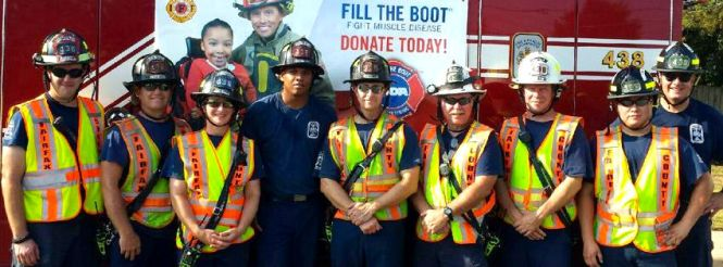 Firefighters Fill the boot today through Monday