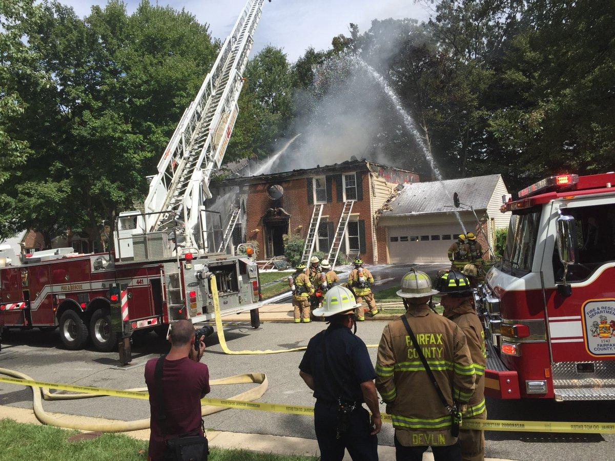 Two Alarm Fairfax Station House Fire Fairfax County Fire