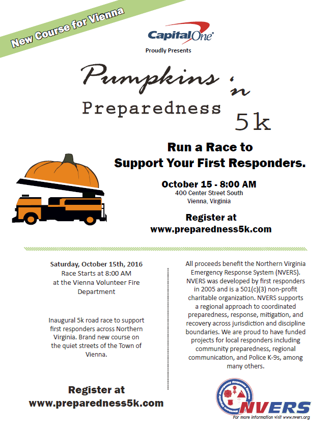 Pumpkins n Preparedness 5K race
