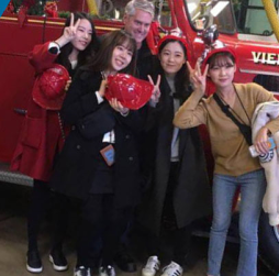 South Korean Students Take Field Trip To Vienna Fire Station