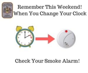 Change your clock and check your smoke alarms