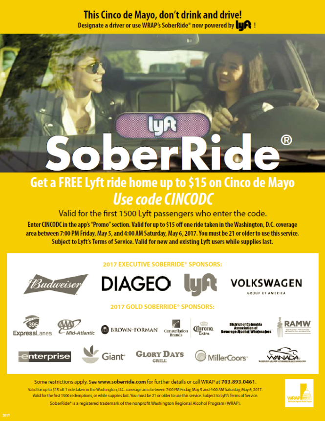 Celebrating Cinco de Mayo? Do Not Drink And Drive! Get A Free Ride Home!