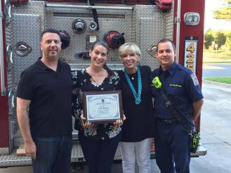 Resident Presented With Life Saving Award