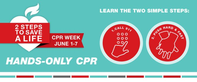 June 1-7 is National CPR and AED Awareness Week!