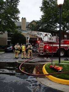 Unattended Cooking Causes Sully Station Apartment Fire