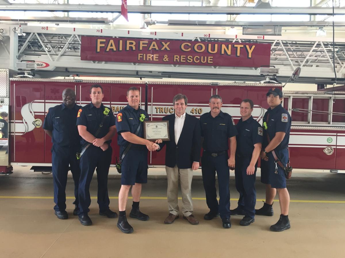 Lake Barcroft Resident Honored With Citizen Lifesaving Award
