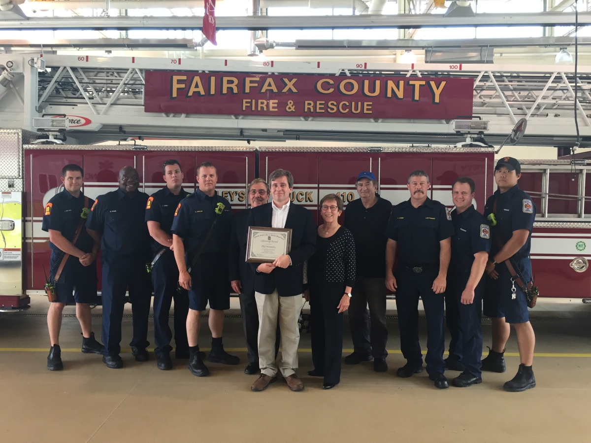 Lake Barcroft Resident Honored With Citizen Lifesaving Award