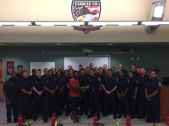Recruit School 142 Raises Money For Injured DC Firefighter