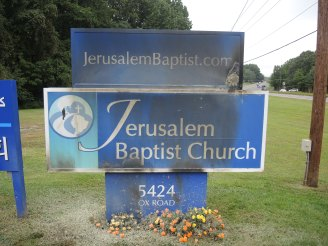 Jerusalem Baptist Church Sign
