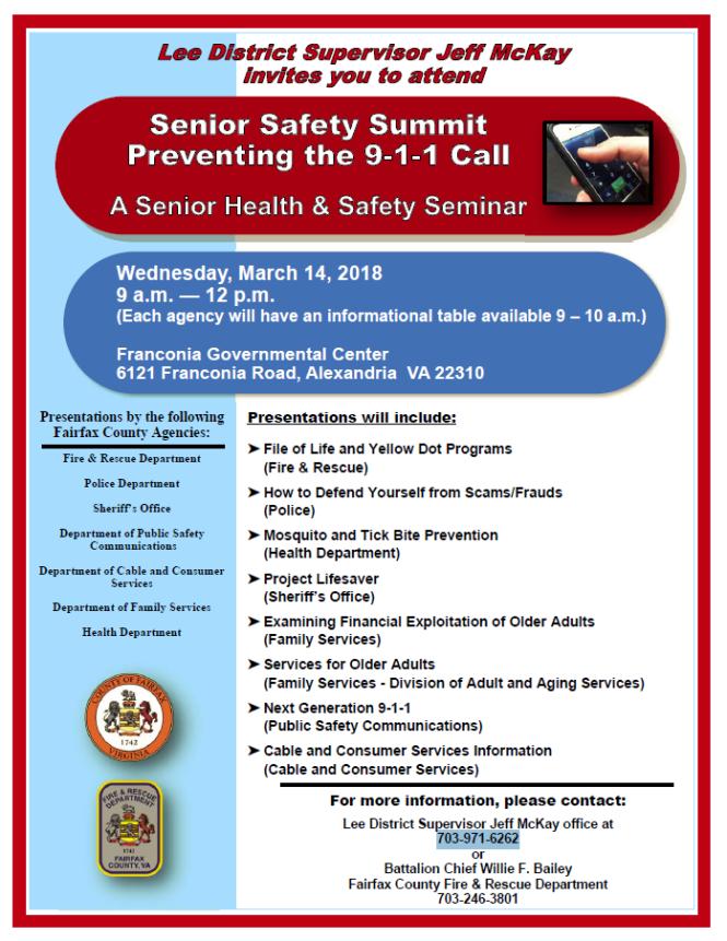 Lee District Senior Safety Summit