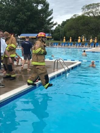 Battalion 401-B water rescue training